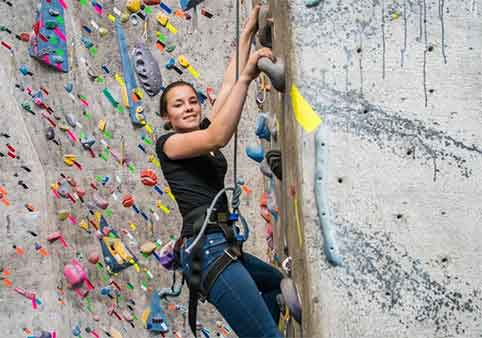 Guided Outdoor Rock Climbing & Indoor Climbing Gym